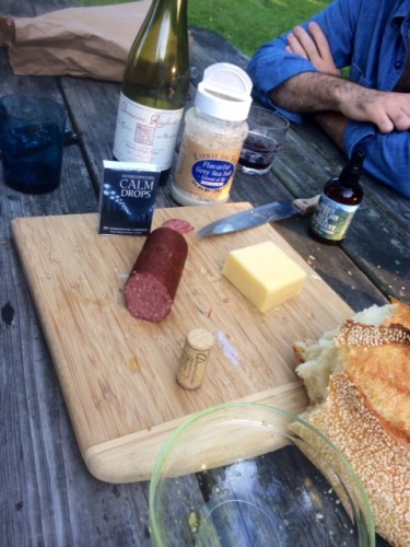 Still Life With Elk Sausage And Calm Drops