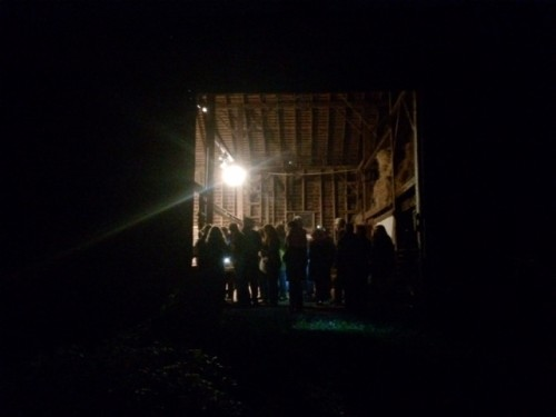 Crowding into the barn for Rachel Bonds