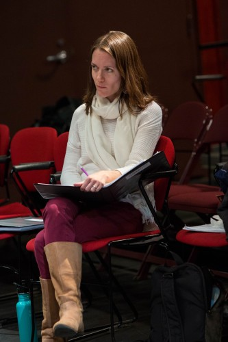 Our intrepid dramaturg Christine Scarfuto.