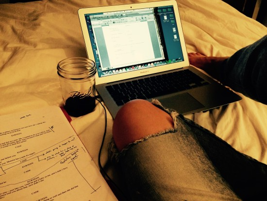 SPACE (especially The Sycamores) is the best place to sit in bed with a mason jar of wine and work on your play...