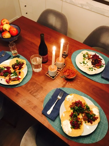 Tacos by the illustrious Renata Friedman